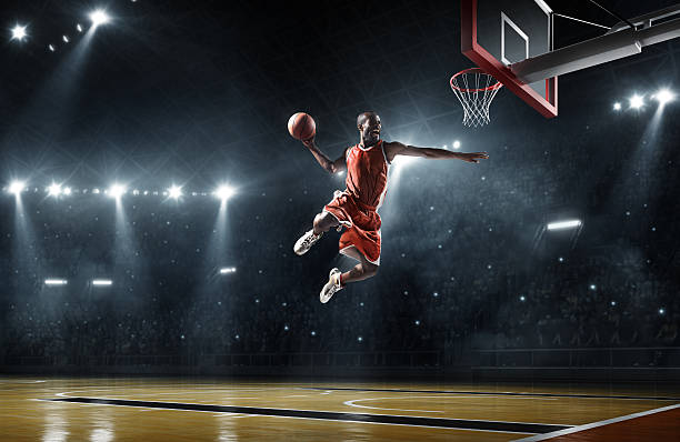Joueur de basket-ball Offre slam dunk - Photo