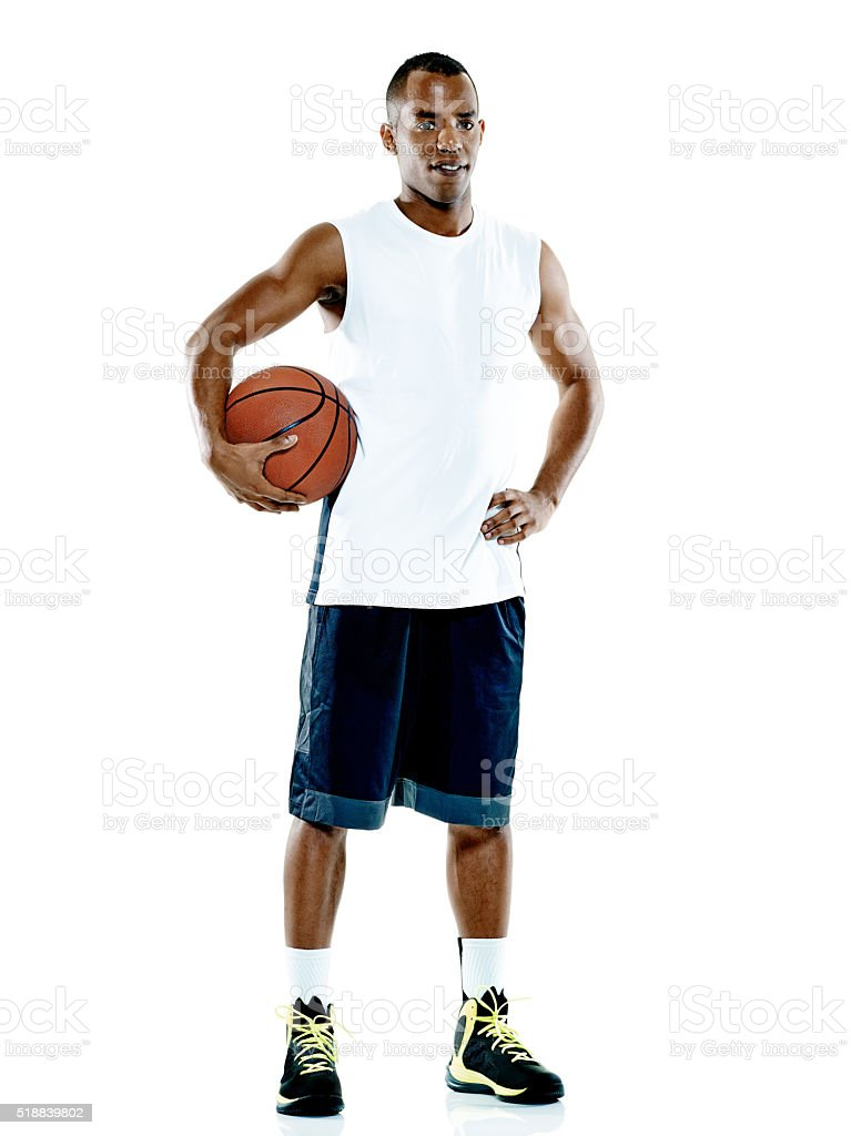 basketball player  man Isolated stok fotoğrafı