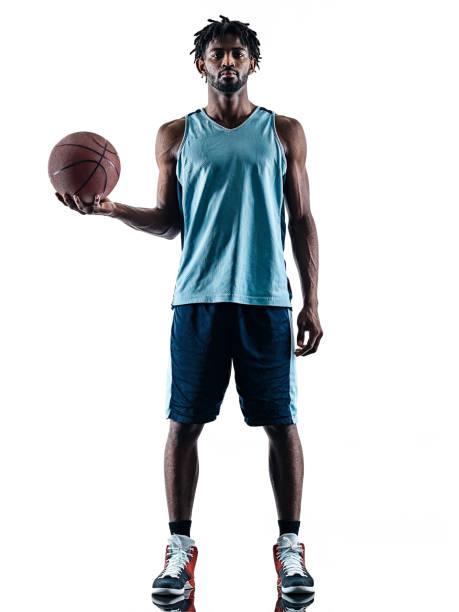 Basketballspieler Mann isoliert Silhouette Schatten – Foto