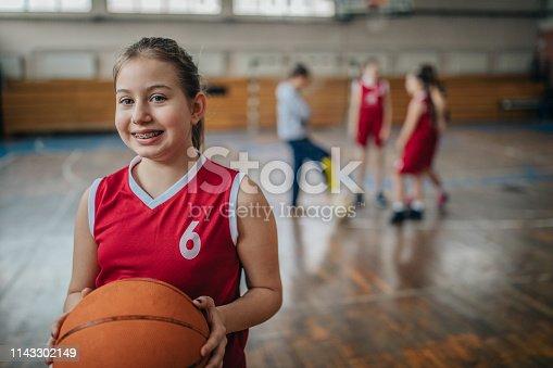 Basketball players on basketball court