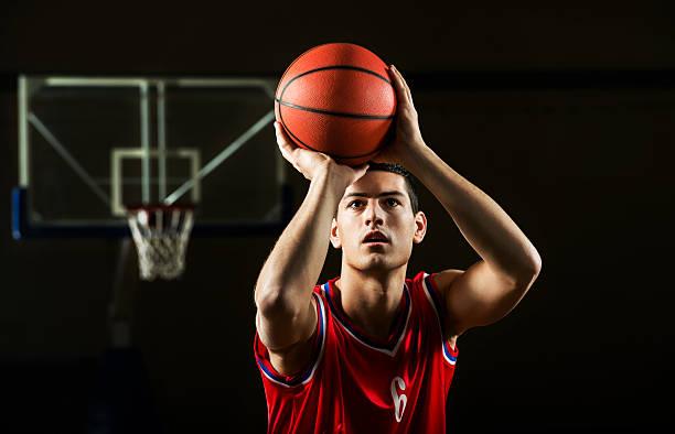 basketball player. - scoren stockfoto's en -beelden