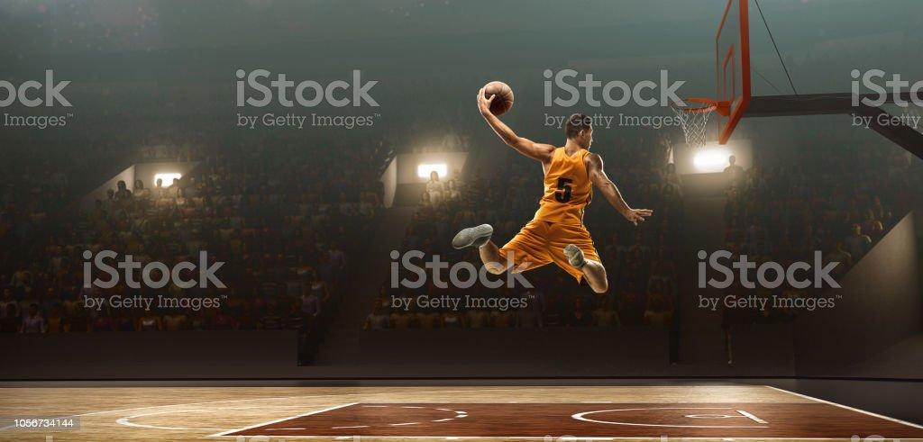 Joueur de basket-ball marquant. Slam Dunk - Photo