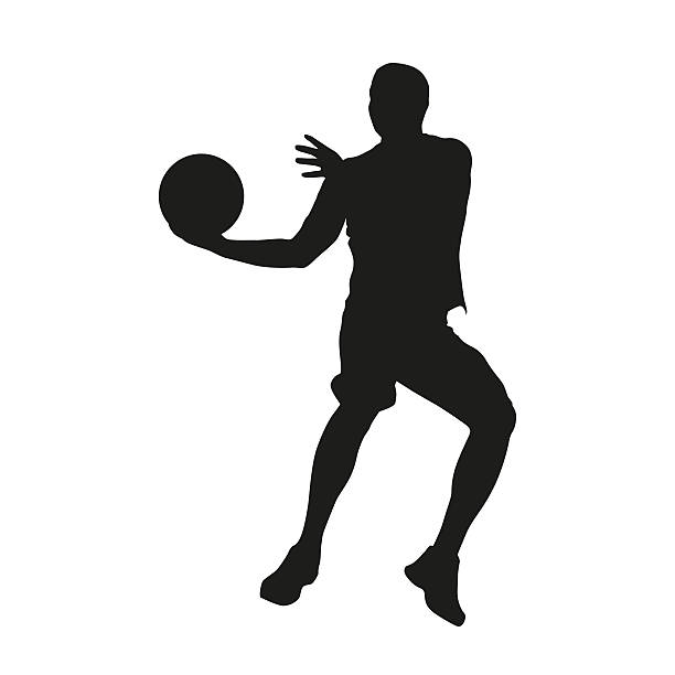 Basketball player. Vector silhouette stock photo
