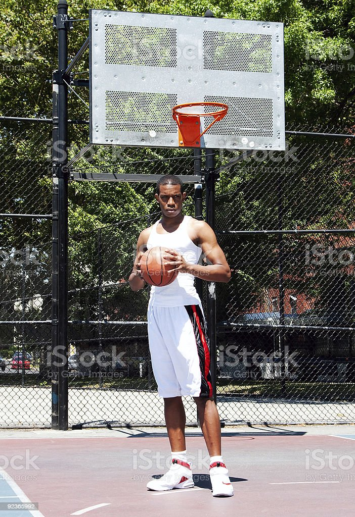 Basketball player with ball royalty-free stock photo