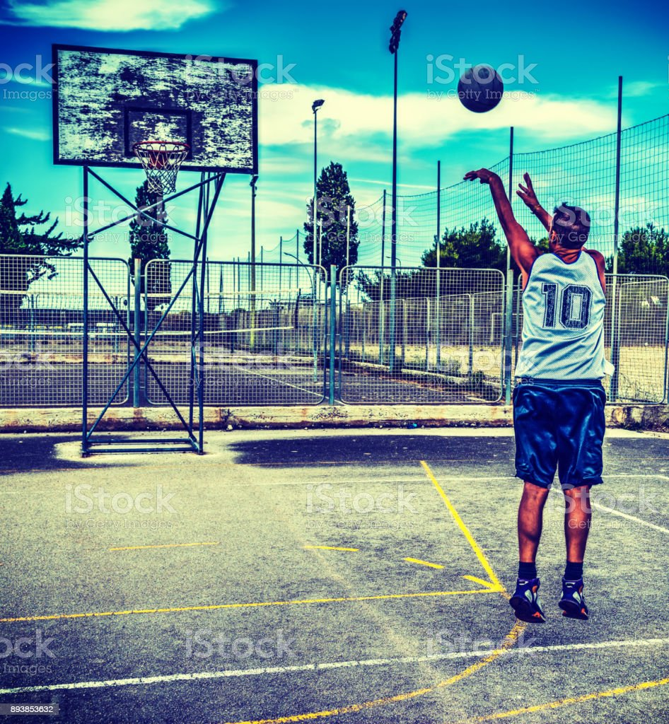 Basketball player workout stock photo