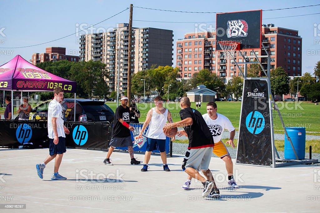 Reproductores de básquetbol de la NBA 3X - foto de stock