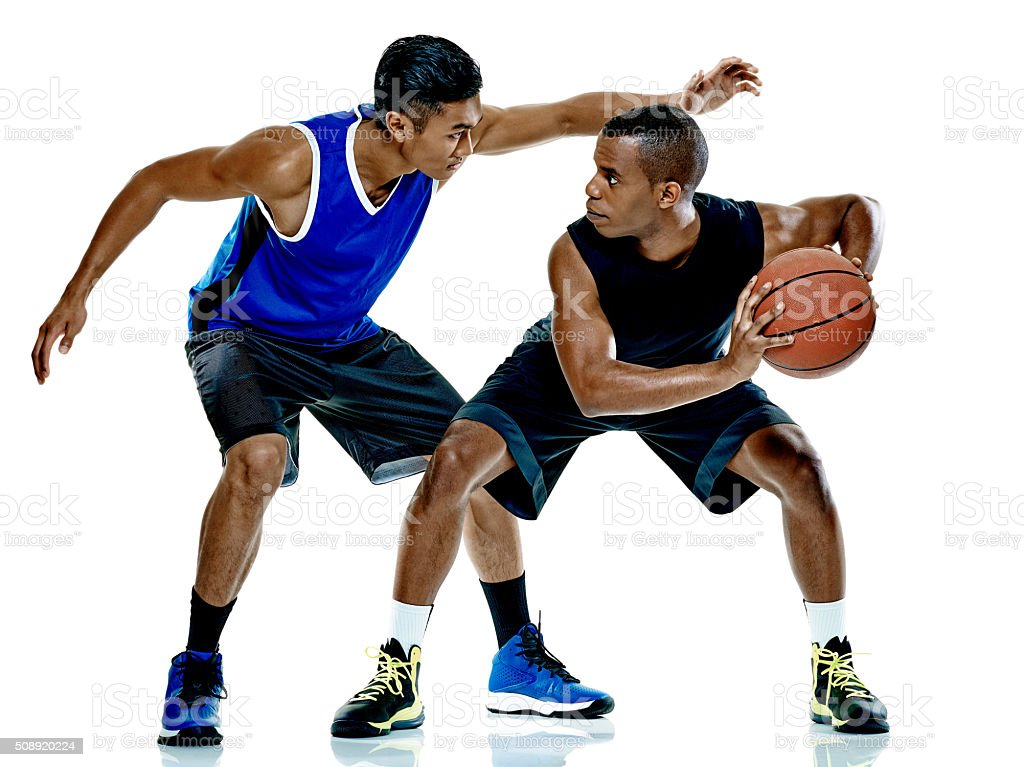 basketball players men Isolated stock photo