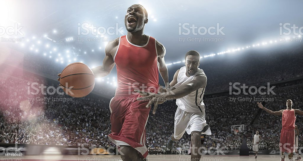Basketball Players Need For Speed royalty-free stock photo