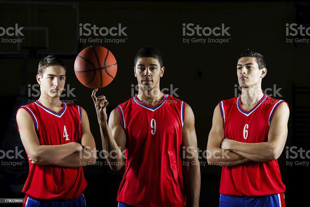Basketball players. royalty-free stock photo
