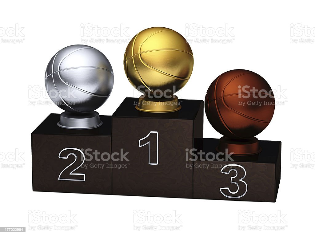 Basketball Podium with a white background royalty-free stock photo