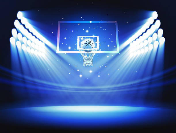 Basketball rim stock photo