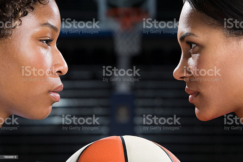 Basketball rivals 免版稅 stock photo