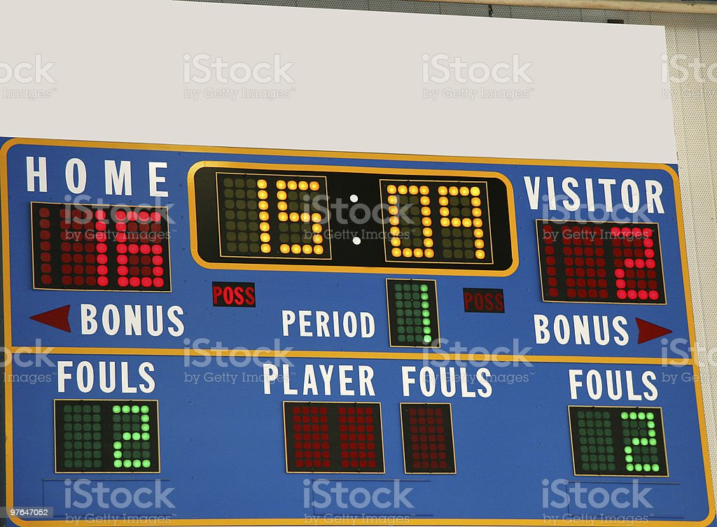 basketball scoreboard royalty-free stock photo