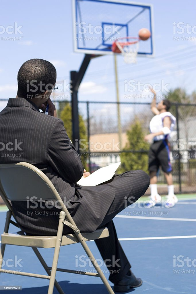 Basketball Scout royalty-free stock photo