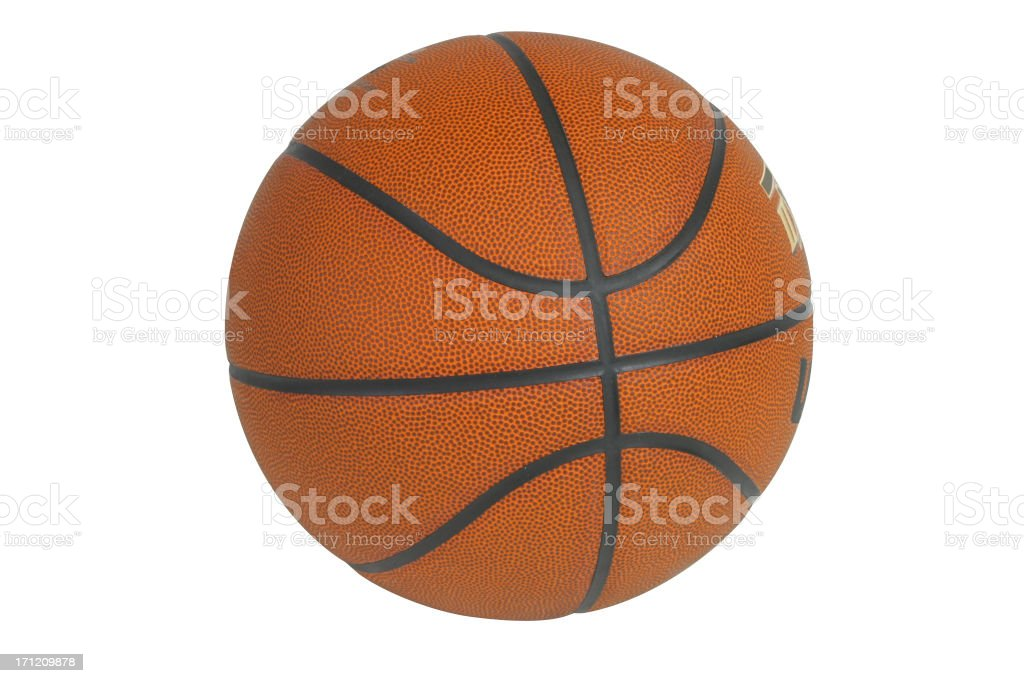 Basketball Series on white with a clipping path royalty-free stock photo