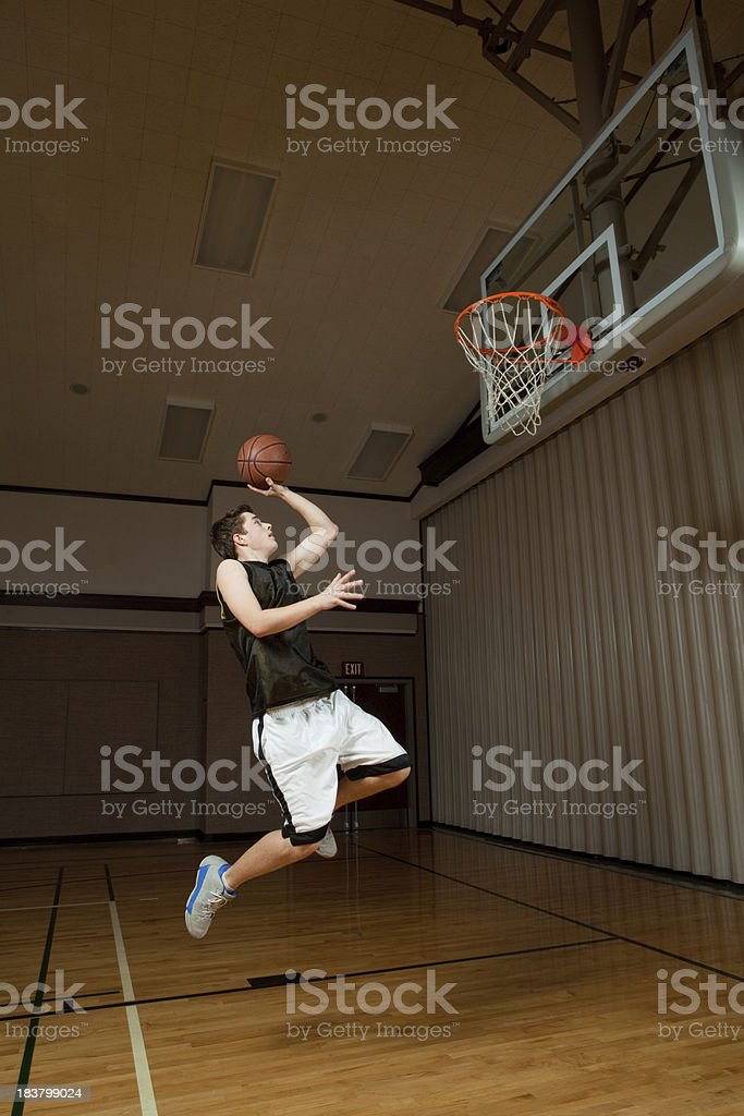 Basketball shot royalty-free stock photo