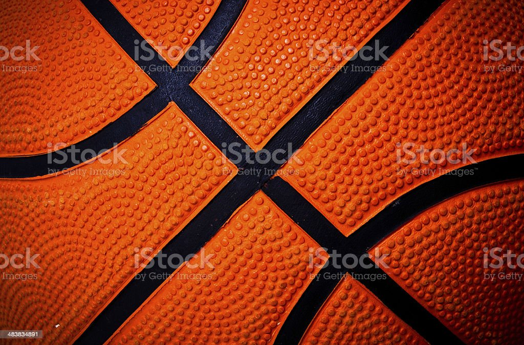 Basketball skin for background and texture. stock photo