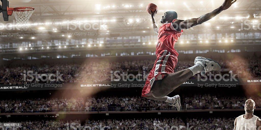 Basketball Slam Dunk royalty-free stock photo