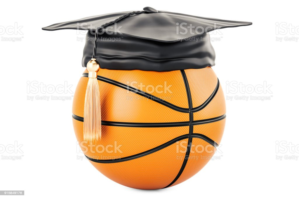 Basketball, sport education concept. 3D rendering isolated on white background stock photo