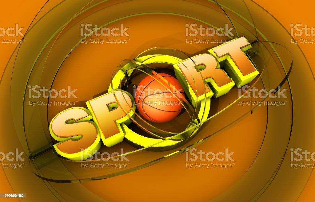 Basketball Sport Logo stock photo