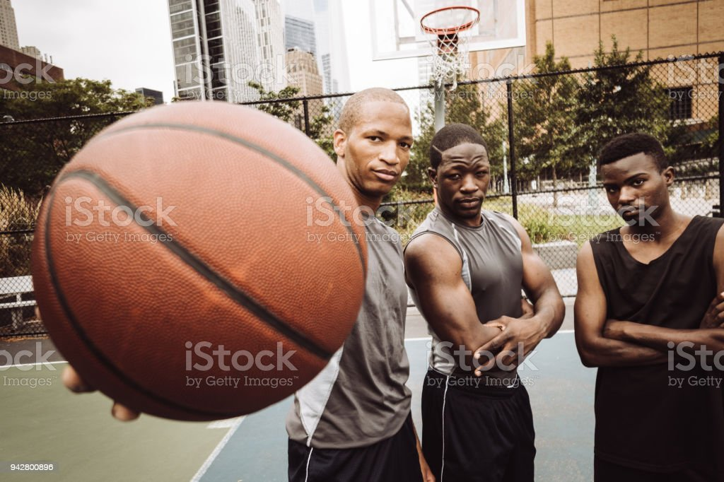 basketball squad on the street court