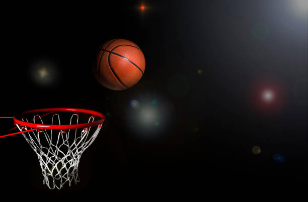 basketball stadium arena background - basketball hoop stock pictures, royalty-free photos & images