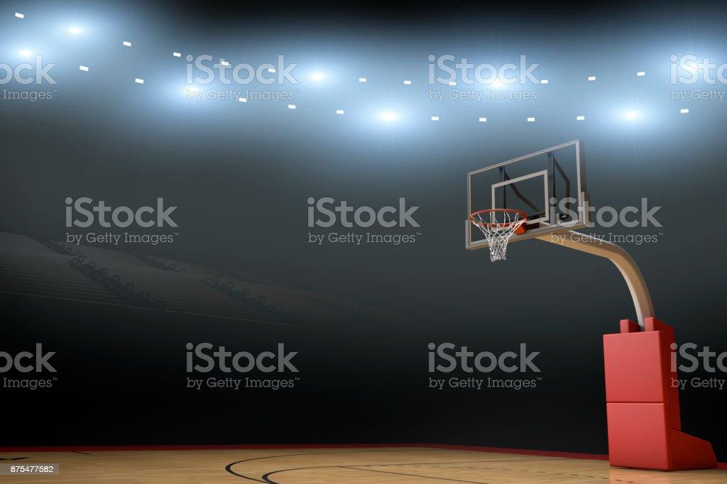 Basketball Stadium Arena Background stock photo
