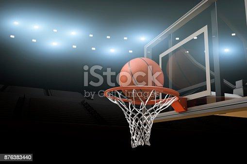 istock Basketball Stadium Arena Background 876383440