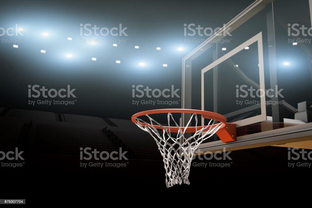 Basketball Stadium Background Copy Space stock photo