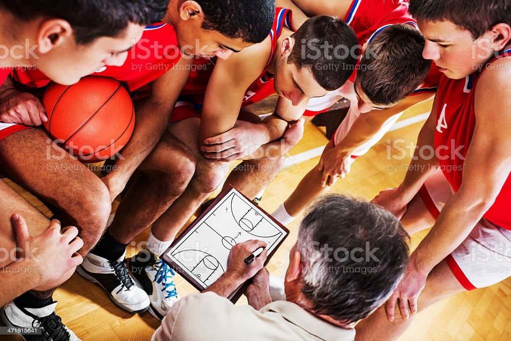 Basketball strategy. stock photo