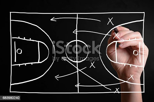istock Basketball strategy plan 683980240