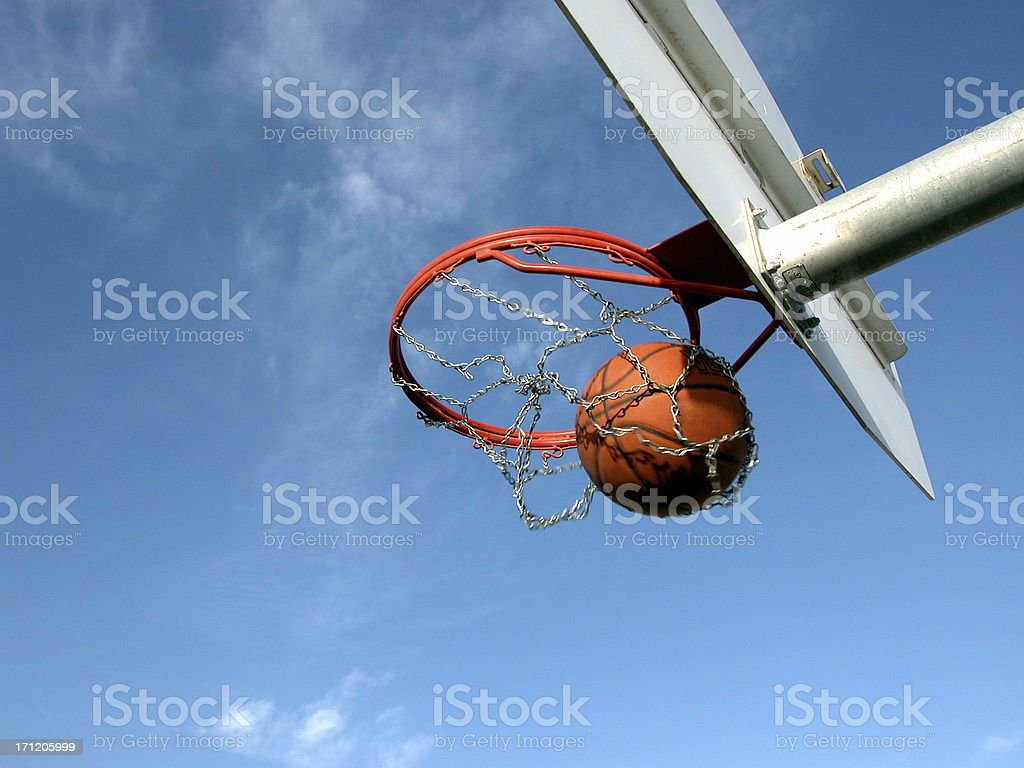BasketBall Swish - Nothing but Net royalty-free stock photo