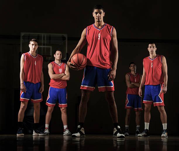 Basketball team. stock photo