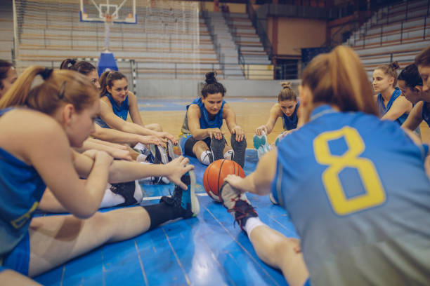 basketball team - high school sports stock pictures, royalty-free photos & images