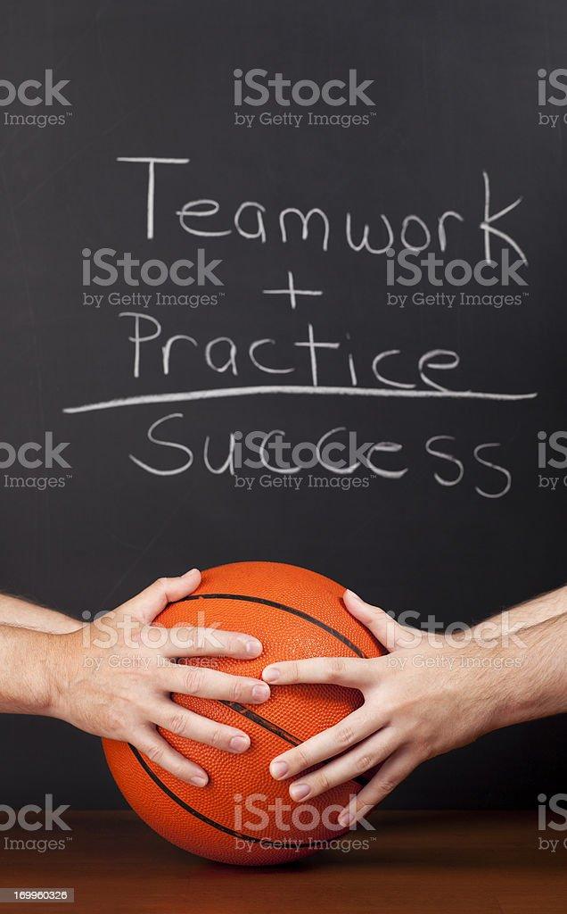 Basketball Teamwork Success royalty-free stock photo