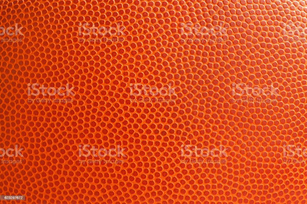 Basketball texture shot close up