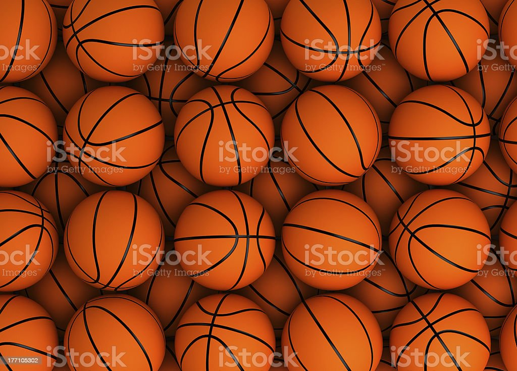 Basketball Texture stock photo