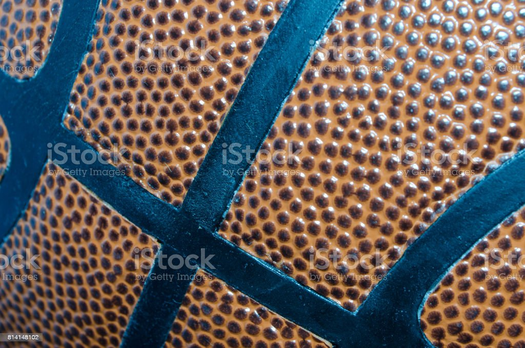Close up of a basketball. Could be used as a background or for a...