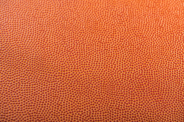 Basketball textured background with selective focus stock photo