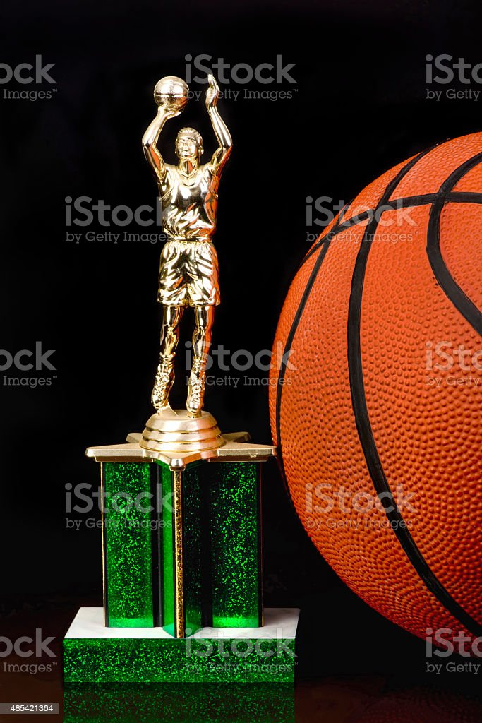 Basketball Trophy. stock photo