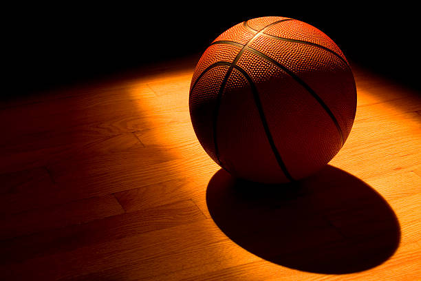 Basketball under the light  all star stock pictures, royalty-free photos & images