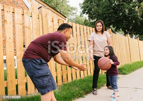 1082195070 istock photo Basketball with family 1082195068