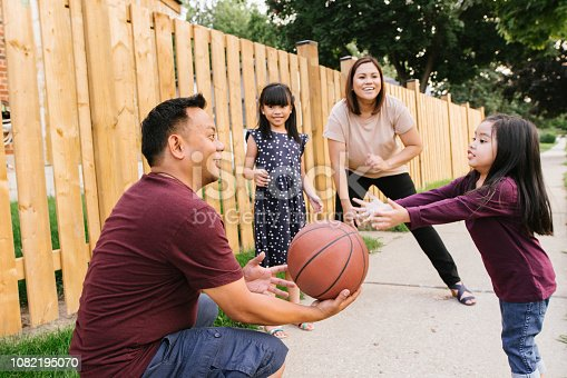 1082195070 istock photo Basketball with family 1082195070