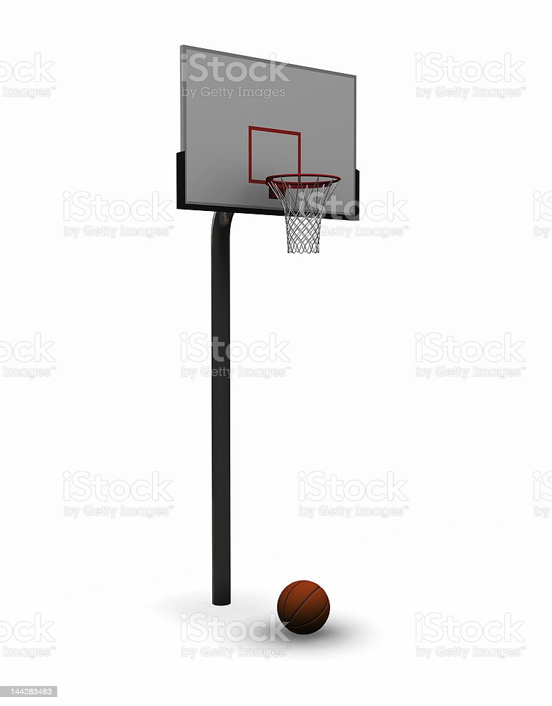 Basketball with net royalty-free stock photo