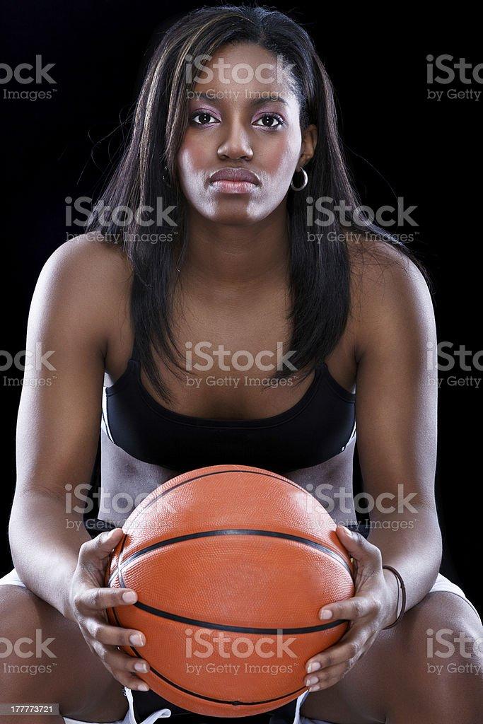 Afro American basketball woman