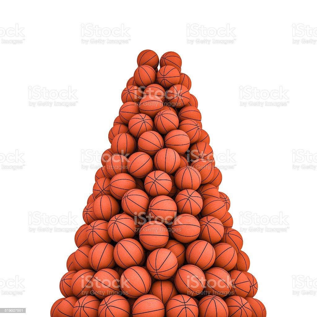 Basketballs peak stock photo