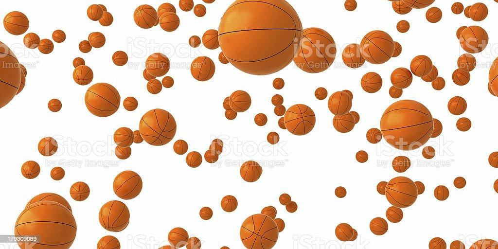 Basketballs rain. royalty-free stock photo