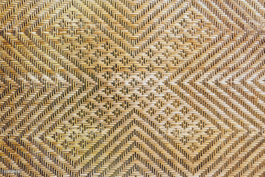 Basketry (Wickerwork) of rattan. royalty-free stock photo
