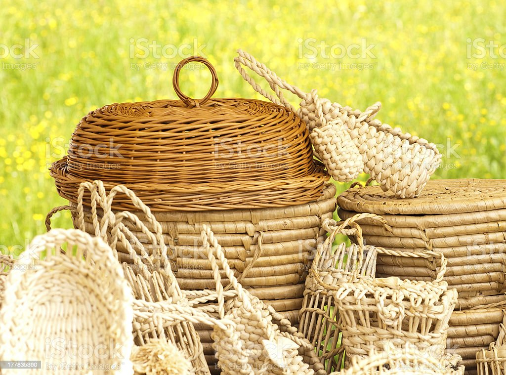 Basketry on nature royalty-free stock photo