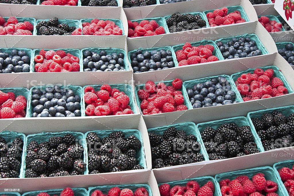 baskets of fresh berries royalty-free stock photo